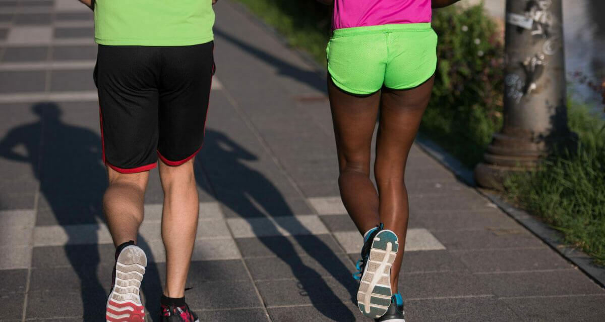 Home exercise program like walking with a friend